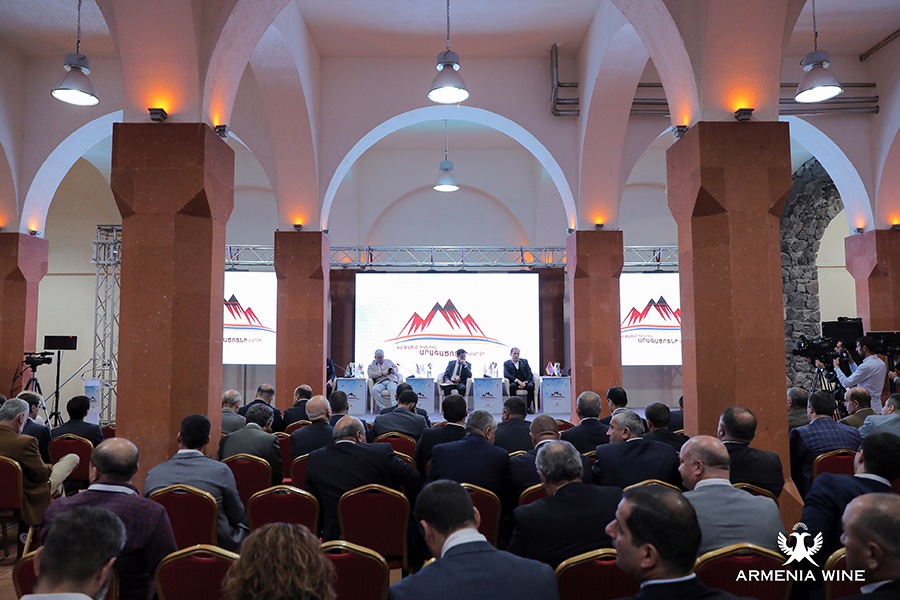 Armenia Wine Company hosted My Step for Aragatsotn Marz business forum 2