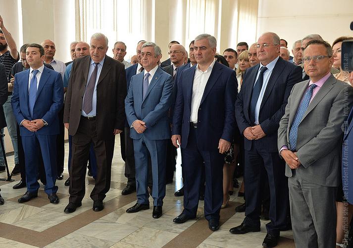 Serzh Sargsyan and Samvel Karapetyan Attend Center of Excellence Opening at Polytechnic University