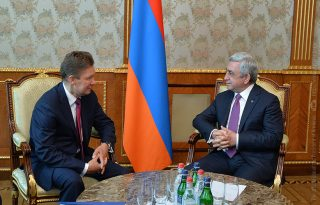 President Serzh Sargsyan received Gazprom CEO Alexei Miller