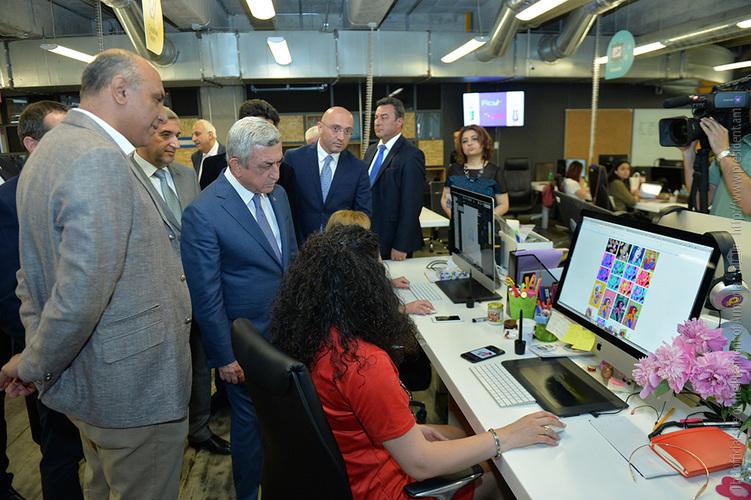 President Serzh Sargsyan Visits PicsArt Headquarters in Yerevan
