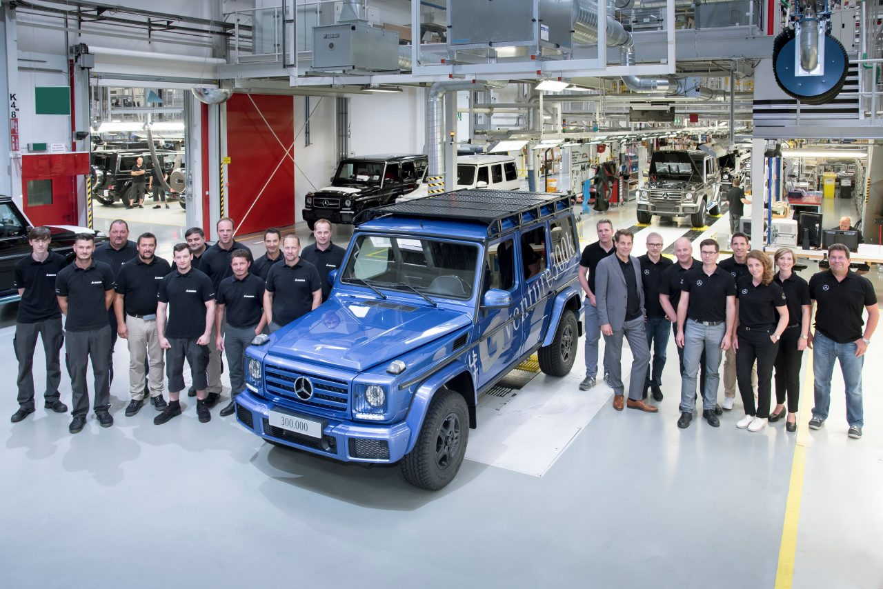 Mercedes-Benz. Production record – 300,000th G-Class rolls off production line