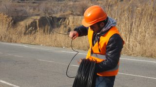 Vivacell-MTS: An important section of the Yerevan-Meghri interstate highway gets illuminated