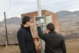 Vivacell-MTS: The second stage of street illumination program in borderland Dovegh community completed