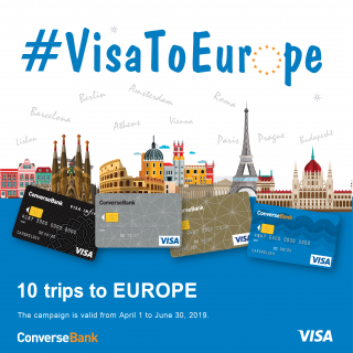 10 trips to Europe – in the framework of Converse Bank's #VisaToEurope  Promo action
