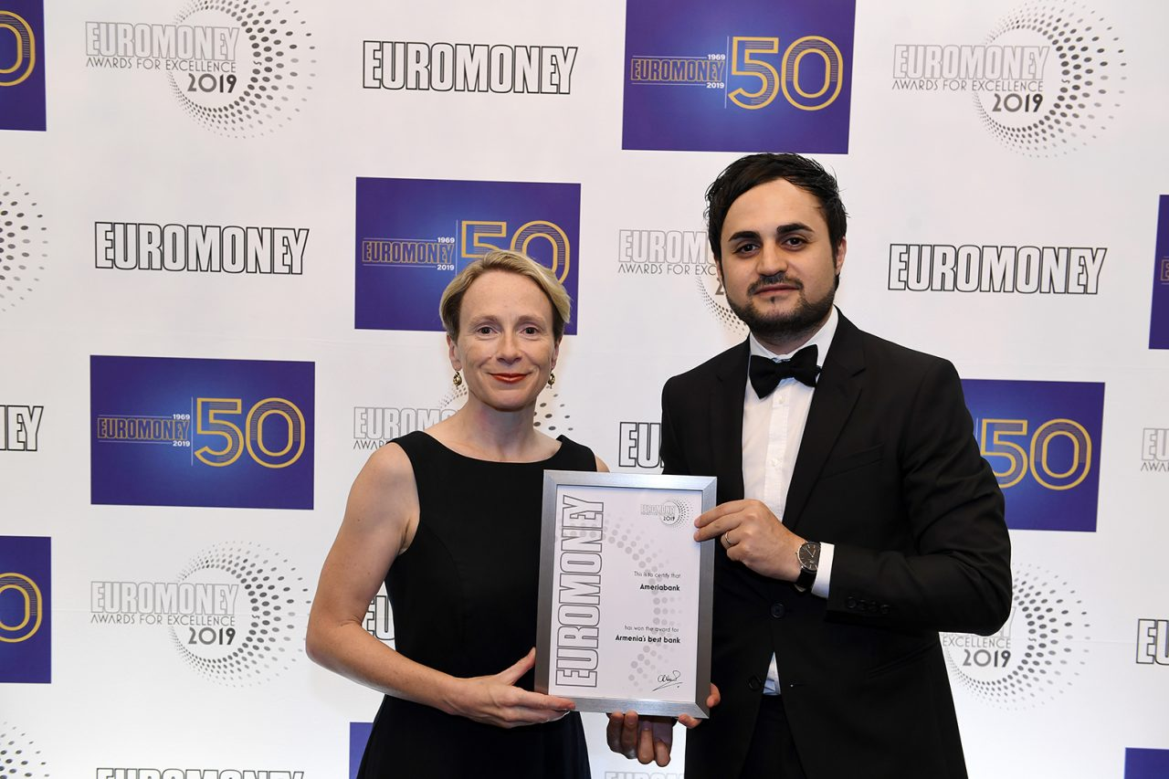 Ameriabank wins Euromoney Award for Excellence 2019 as the Best Bank of the Year in Armenia