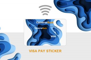 New Offers by Converse Bank to its Clients: Now, Visa Pay Stickers, in the near future Mini FOBs
