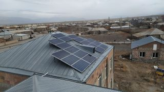 VivaCell-MTS: solar heating system installed in the kindergarten of Tsovak village