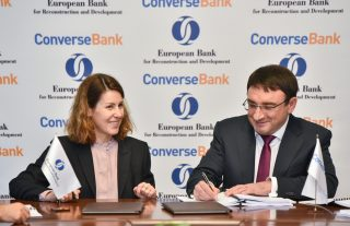 Converse Bank signed 8 million US dollars equivalent local currency two loan facilities with the EBRD