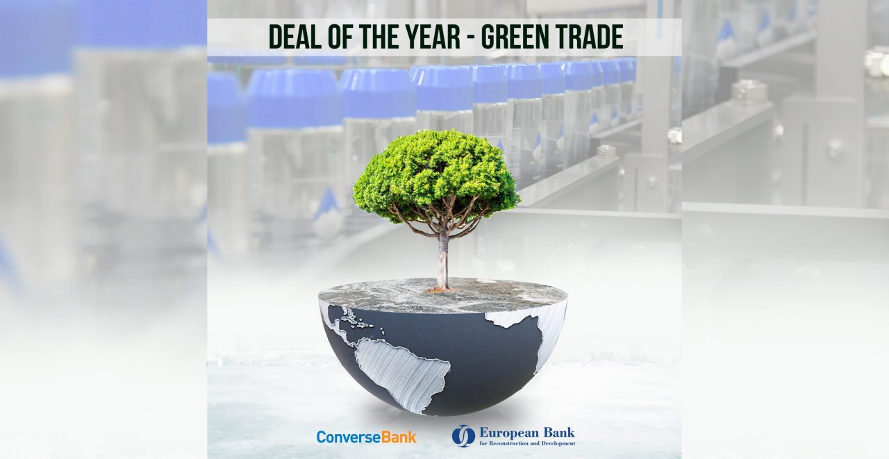 """Converse Bank is again the winner of the EBRD's""""Deal of the Year – Green Trade"""" award"""