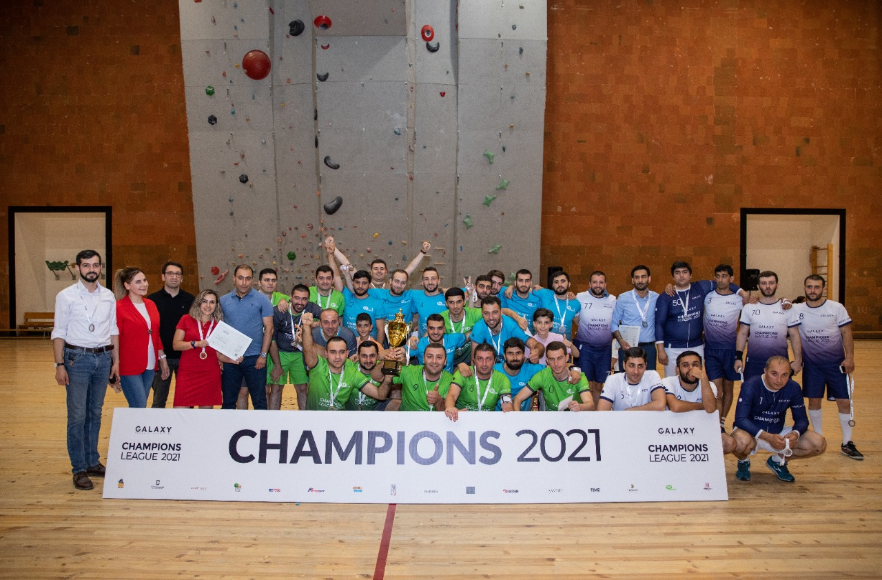 Ucom-1 team was recognised the winner of the 2021 futsal tournament of the Galaxy Group of Companies: The award ceremony took place
