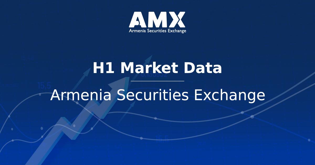 Armenia Securities Exchange: Market data in the 1st half of 2021
