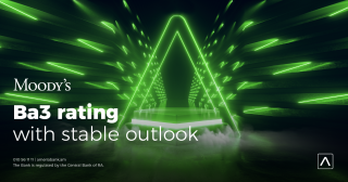 Ameriabank: Moody's revised the Outlook on Ameriabank to Stable
