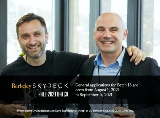 Berkeley SkyDeck accelerator accepts startup applications for Fall2021 Batch