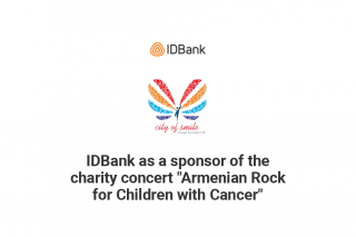 """IDBank as a sponsor of the charity concert """"Armenian Rock for Children with Cancer"""""""