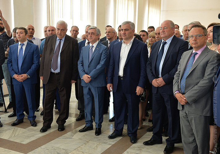 Serzh Sargsyan and Samvel Karapetyan Attend Center of Excellence Opening at Polytechnic University
