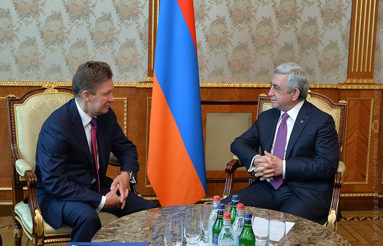 President Serzh Sargsyan received Gazprom CEO Alexei Miller