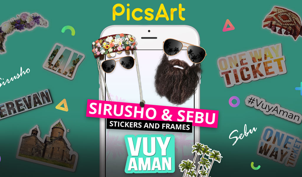 Vuy Aman song-inspired creative sticker and frame packages are now free to use for the PicsArt Community