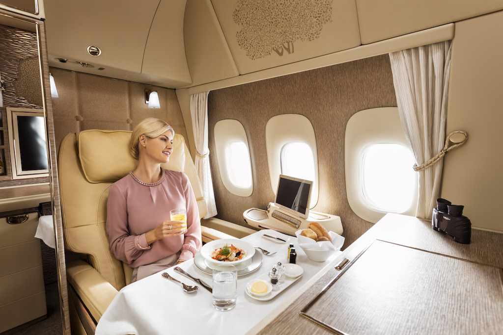 Fly Emirates' First Class – inspired by Mercedes-Benz