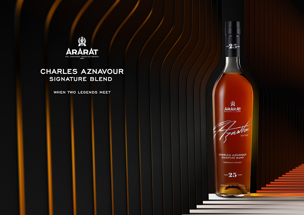 ARARAT Charles Aznavour Signature Blend project - the result of collaboration between the great artist and international brand
