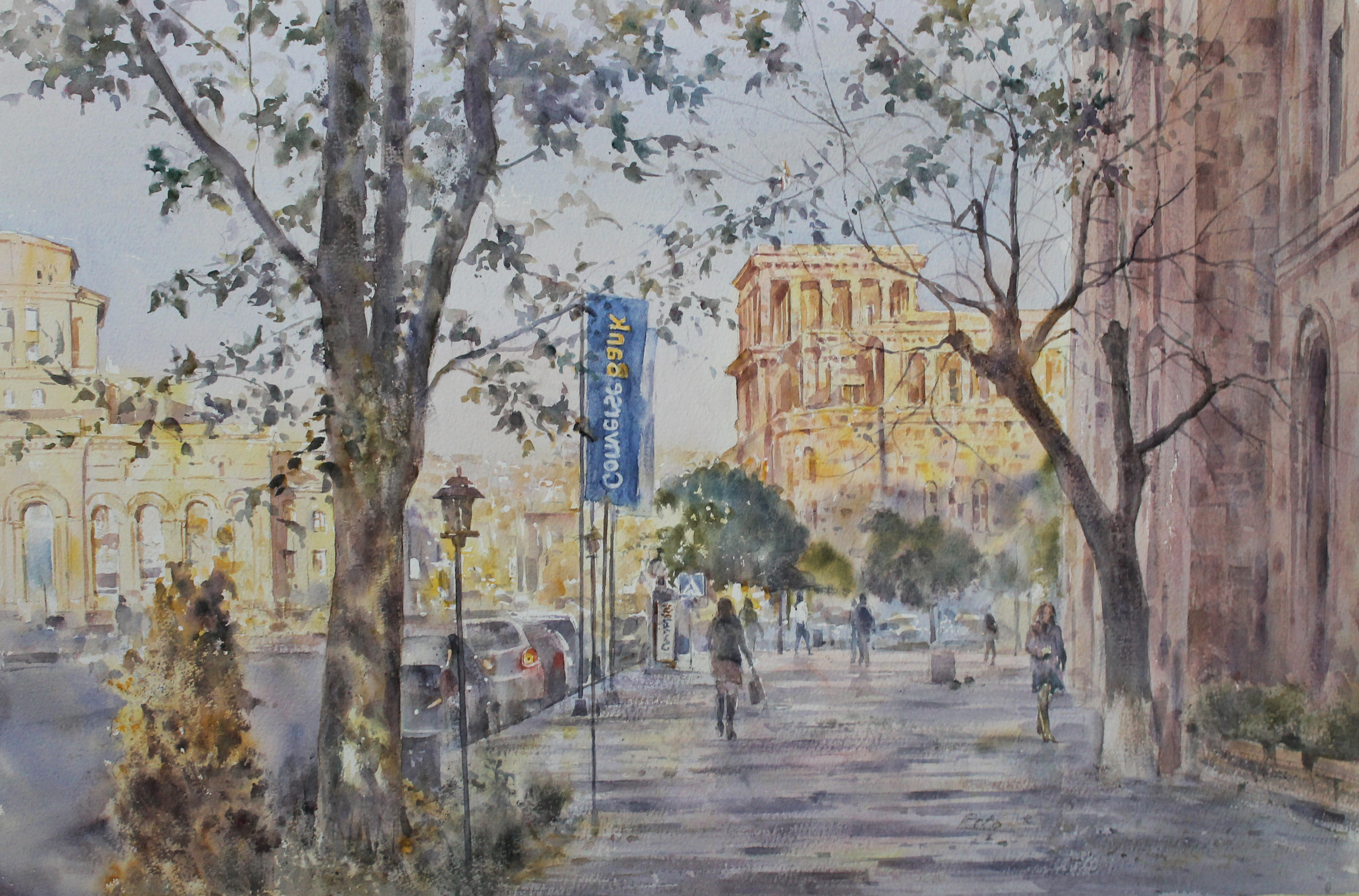 Converse Bank: exhibition of paintings by artist Peto Poghosyan