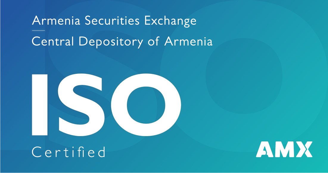 Armenia Securities Exchange and Central Depository of Armenia Achieved ISO 9001:2015 and ISO/IEC 27001:2013 Certification