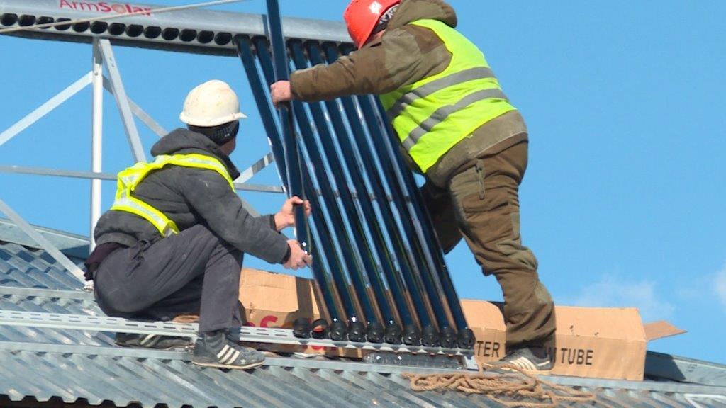 Vivacell-MTS. New local heating system under construction in Agarakadzor