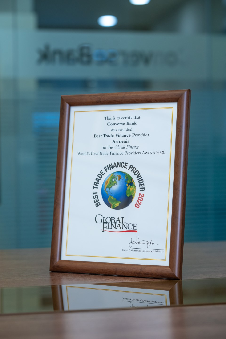 Global Finance recognizes Converse Bank as the Best Trade Finance Provider in Armenia 1