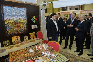 Նախագահն այցելել է «Արտադրված է Հայաստանում» ցուցահանդես