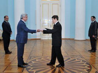 Նախագահին հավատարմագրերն է հանձնել Հայաստանում Պերուի նորանշանակ դեսպանը