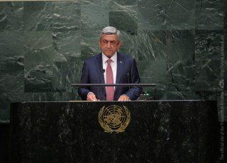 Նախագահ Սարգսյանի ելույթը ՄԱԿ-ի Գլխավոր վեհաժողովի նստաշրջանում