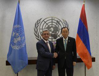 Նախագահը Սարգսյանը հանդիպում է ունեցել ՄԱԿ-ի Գլխավոր քարտուղար Բան Կի-Մունի հետ