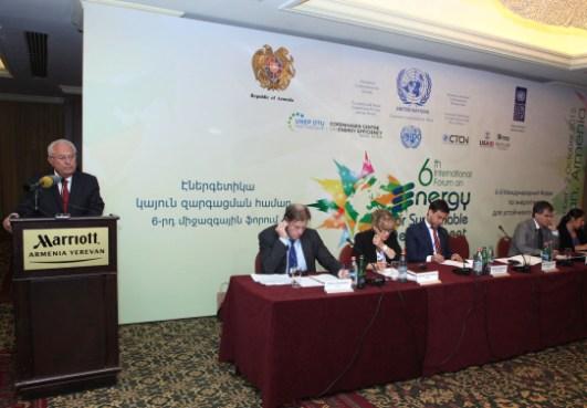 Երևանում ընթանում է «Էներգետիկան կայուն զարգացման համար» միջազգային 6-րդ ֆորումը