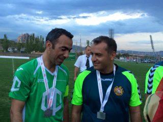 ԱԿԲԱ-ԿՐԵԴԻՏ ԱԳՐԻԿՈԼ ԲԱՆԿ. Յուրի Ջորկաեֆն այսօր Երևանում ֆուտբոլ է խաղացել
