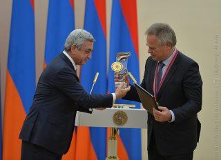 Եվգենի Կասպերսկին պարգևատրվել է ՏՏ ոլորտում համաշխարհային ներդրման համար ՀՀ Նախագահի մրցանակով