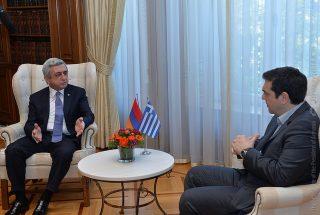 Հանդիպել են ՀՀ նախագահն ու Հունաստանի վարչապետը