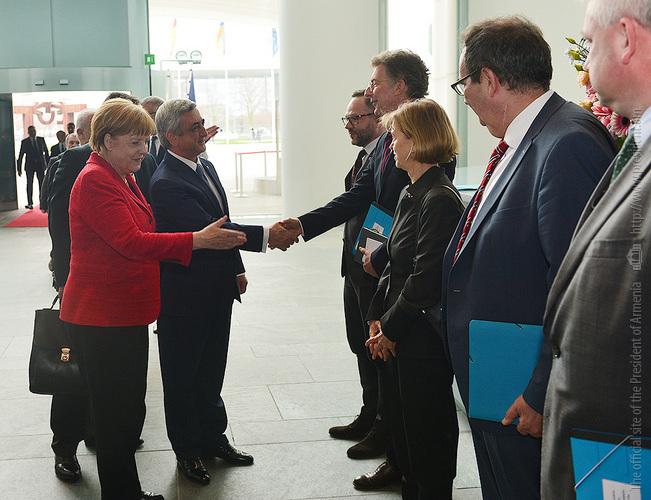 Նախագահ Սերժ Սարգսյանը հանդիպում է ունեցել ԳԴՀ կանցլեր Անգելա Մերկելի հետ