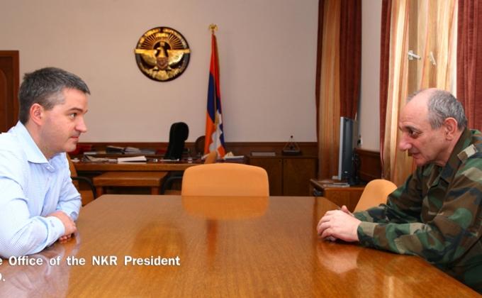 Բակո Սահակյանը հանդիպում է ունեցել «ԱրմենՏել» ընկերության գլխավոր տնօրեն Անդրեյ Պյատախինի հետ