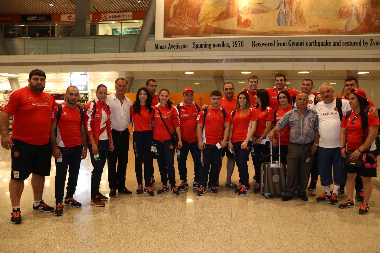 Ucom. oլիմպիական հավաքականի առաջին խմբի մարզիկները մեկնեցին Ռիո դե Ժանեյրո