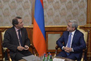 Նախագահն ընդունել է ՀԲ Եվրոպայի և Կենտրոնական Ասիայի հարցերով փոխնախագահ Սիրիլ Մյուլերին