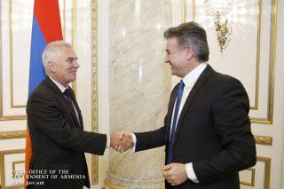 Կարեն Կարապետյանն ու Պյոտր Սվիտալսկին քննարկել են Հայաստան-ԵՄ համագործակցությանն առնչվող հարցեր