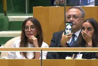 Լեյլա Ալիևայի «կապկային սելֆին»՝ ՄԱԿ-ում Իլհամ Ալիև ելույթի ընթացքում. տեսանյութ