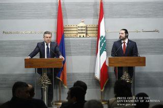 Հայաստանի և Լիբանանի վարչապետները հանդես են եկել բանակցությունների արդյունքներն ամփոփող հայտարարություններով