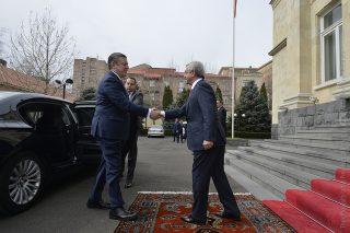 Նախագահ Սերժ Սարգսյանը ընդունել է Վրաստանի վարչապետ Գիորգի Կվիրիկաշվիլիին
