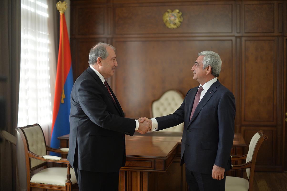 Վարչապետ Սերժ Սարգսյանը հանդիպում է ունեցել նախագահ Արմեն Սարգսյանի հետ