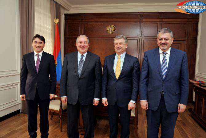 Արմեն Սարգսյանն ընդունել է ՀՀ նորանշանակ փոխվարչապետներին