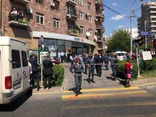 HSBC բանկի Կոմիտաս մասնաճյուղում կրակոցներ են հնչել՝ կա մեկ զոհ. Թարմացված