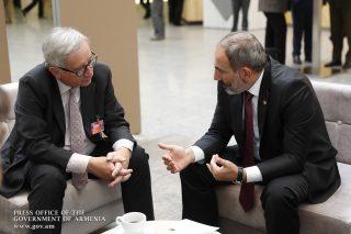 Նիկոլ Փաշինյանը և Ժան-Կլոդ Յունկերը քննարկել են ՀՀ-ԵՄ հարաբերությունների ընթացքն ու հեռանկարները