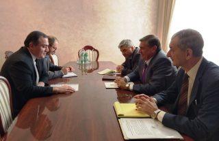 Գյուղնախարարն ընդունել է Հայաստանում Վրաստանի արտակարգ և լիազոր դեսպան Գիորգի Սագանելիձեին