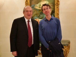 Արմեն Սարգսյանը հանդիպել է Մտքերի գագաթնաժողովի գլխավոր գործընկեր Թիերի Մալերեթի հետ