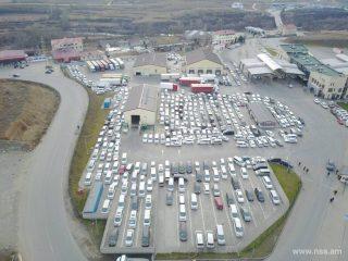 ԱԱԾ. Բագրատաշենի անցակետում կայանված (հիմնականում աջ ղեկ) մեքենաները պետք է մինչև հունվարի 31-ը դուրս բերվեն անցակետի տարածքից